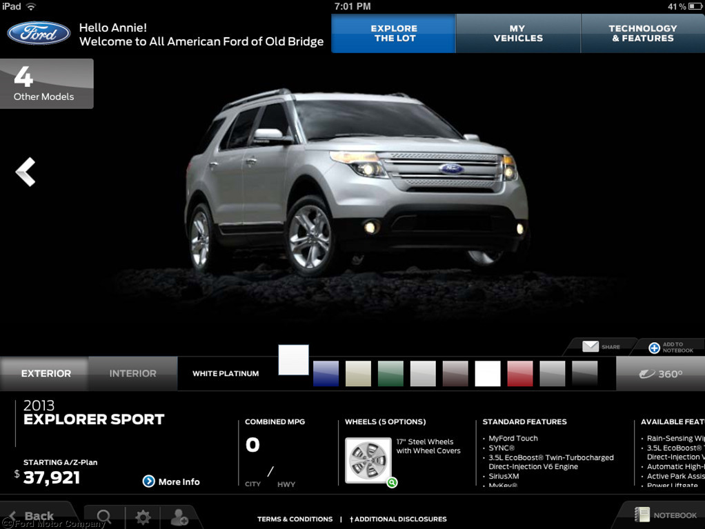 Ford Dealers Now Using SHOWCASE App and Apple iPad to
