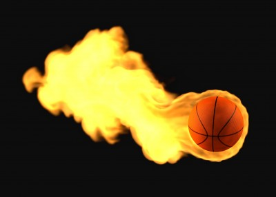 Flaming Basketball March Madness