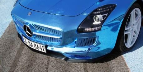 Electric AMG SLS Hood