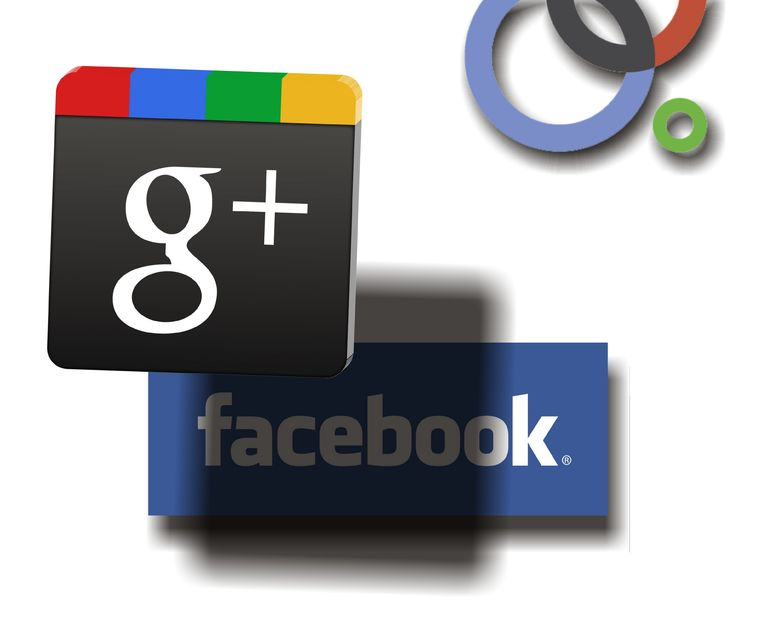 Google + Plus Facebook