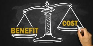 benefit and cost concept