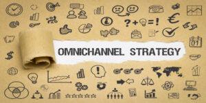 Omnichannel Strategy / Papier mit Symbole