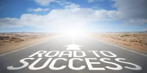 Road concept – road to success