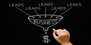 Lead Generation Business Funnel Concept