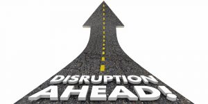 Disruption Ahead Change Major Shift Innovation Road 3d Illustration