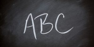 ABCs Alphabet Chalkboard Background Charcoal Gray Chalk Board