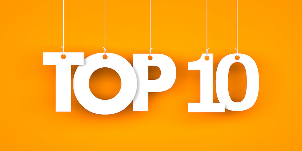 Top 10 – word hanging on the ropes